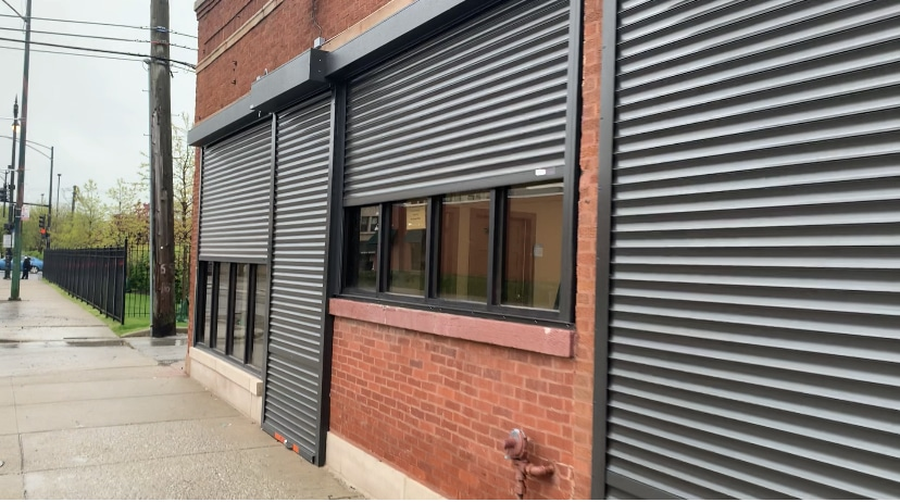 Solid commercial rolling shutters